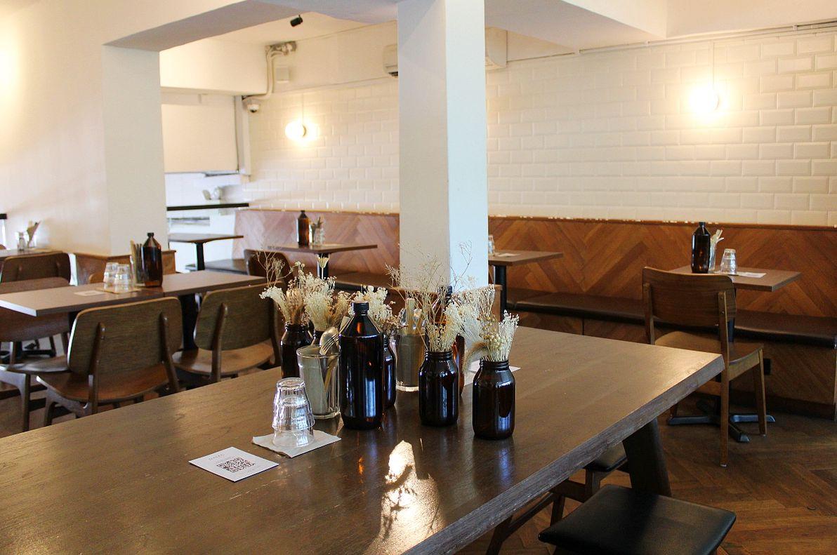 daizu cafe interior seating