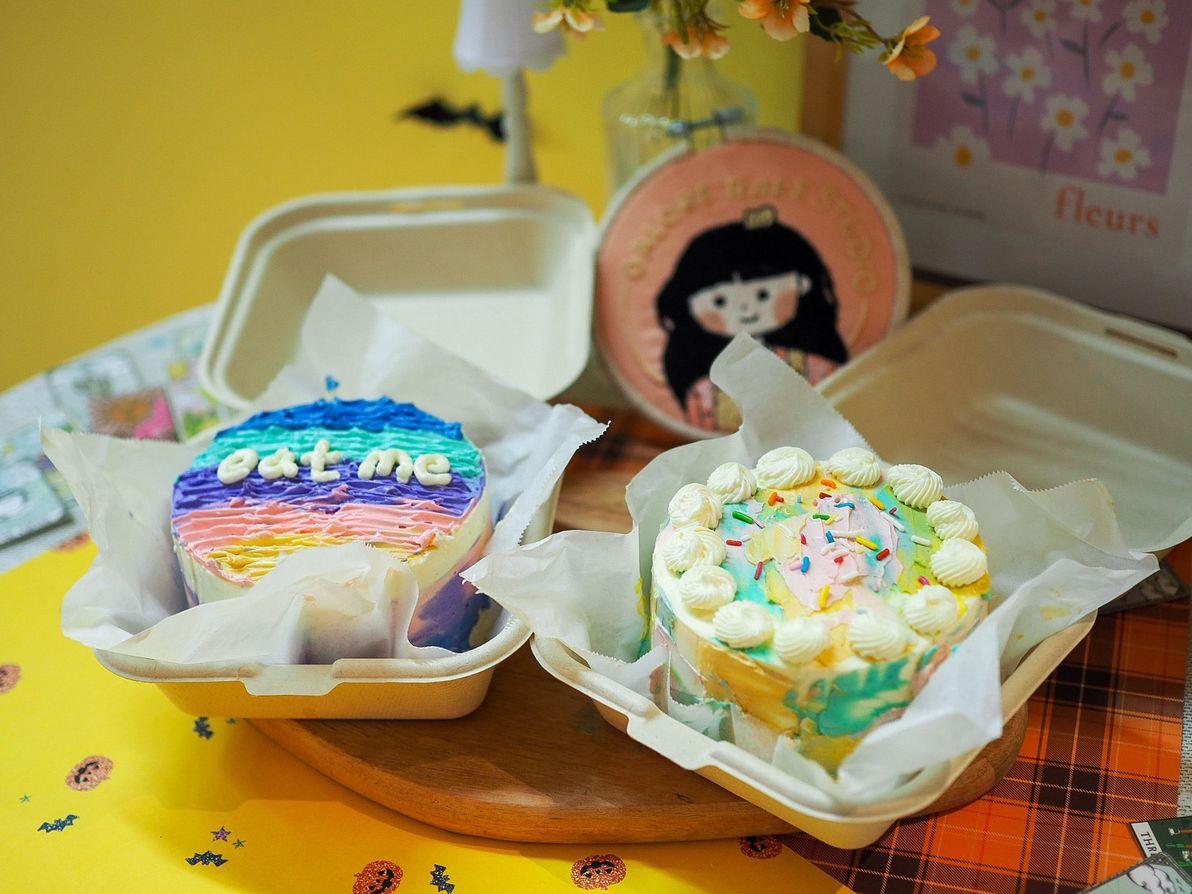 bento box cakes finished product